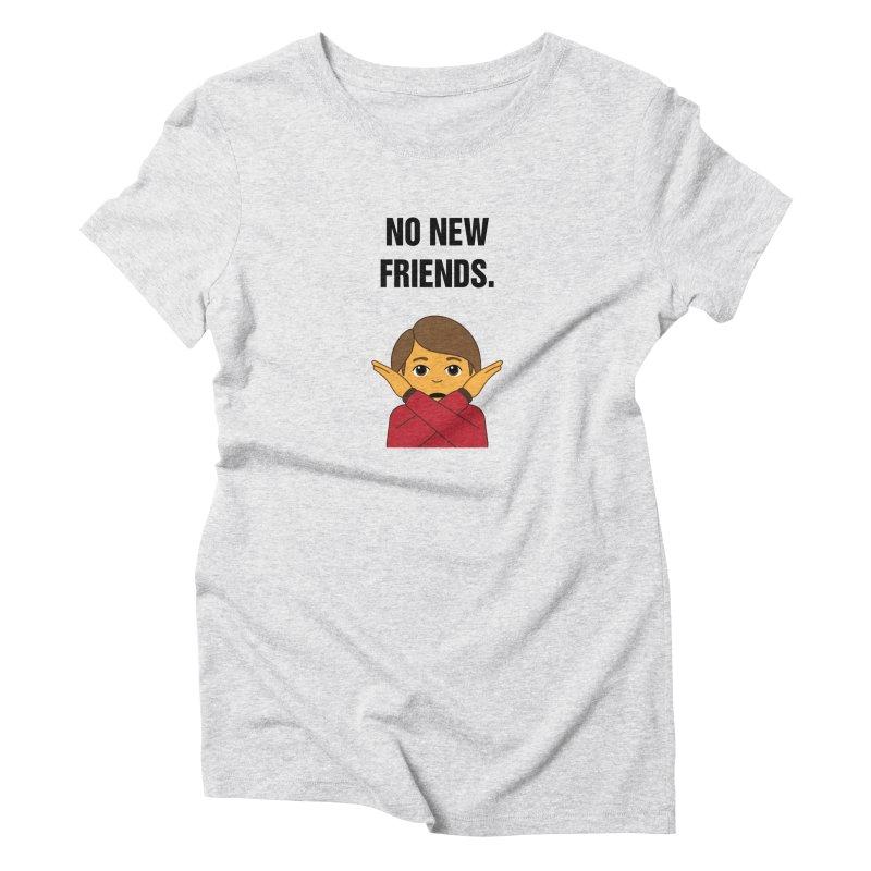 "SIDE EYE/""No New Friends"" (Black) Women's Triblend T-Shirt by Josh Sabarra's Shop"