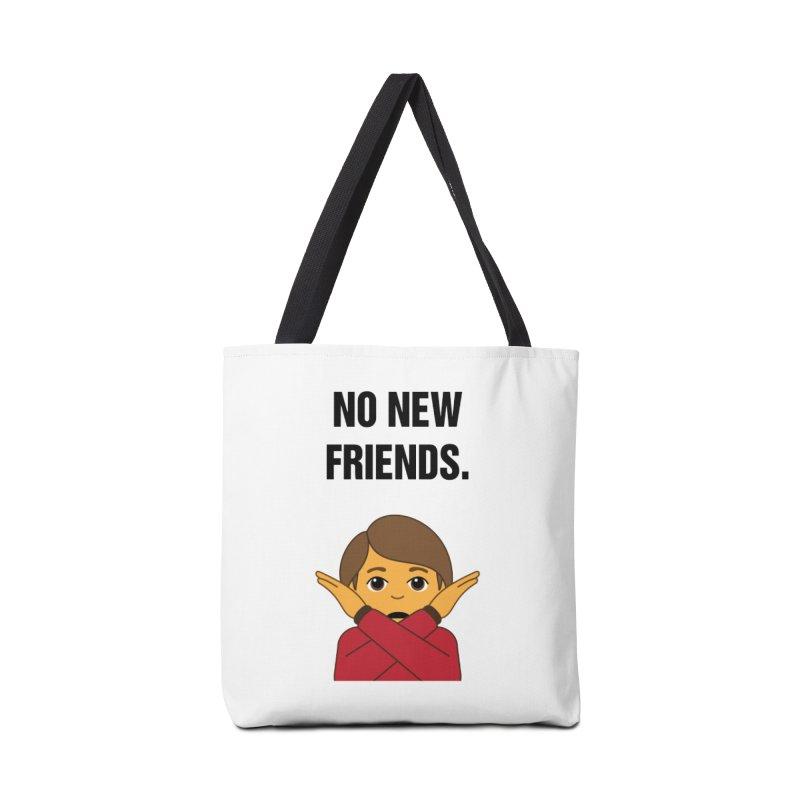 "SIDE EYE/""No New Friends"" (Black) Accessories Bag by Josh Sabarra's Shop"