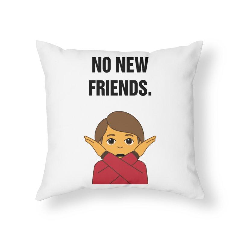 "SIDE EYE/""No New Friends"" (Black) Home Throw Pillow by Josh Sabarra's Shop"