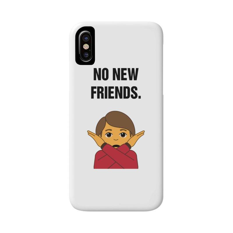 "SIDE EYE/""No New Friends"" (Black) Accessories Phone Case by Josh Sabarra's Shop"