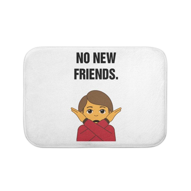 "SIDE EYE/""No New Friends"" (Black) Home Bath Mat by Josh Sabarra's Shop"