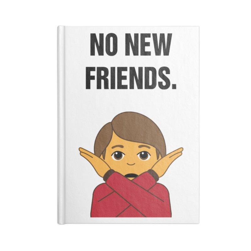 "SIDE EYE/""No New Friends"" (Black) Accessories Notebook by Josh Sabarra's Shop"