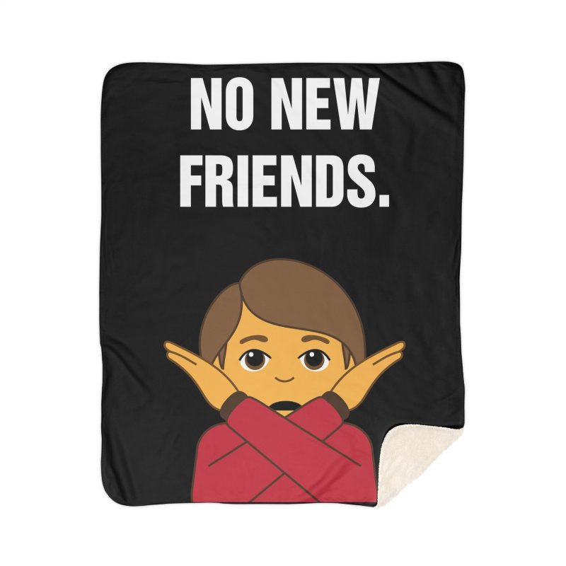 "SIDE EYE/""No New Friends"" (White) Home Blanket by Josh Sabarra's Shop"