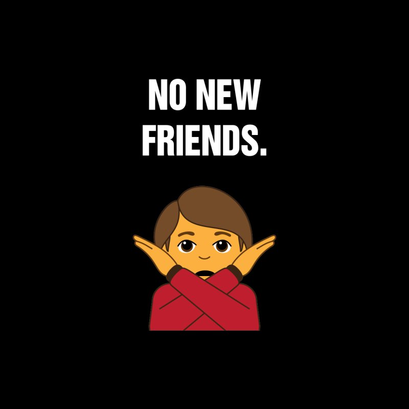 "SIDE EYE/""No New Friends"" (White) Home Blanket by Josh Sabarra's Shop"