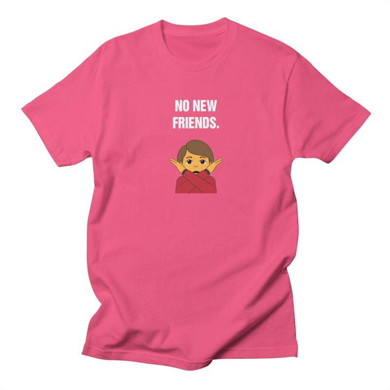 "SIDE EYE/""No New Friends"" (White) Women's Regular Unisex T-Shirt by Josh Sabarra's Shop"