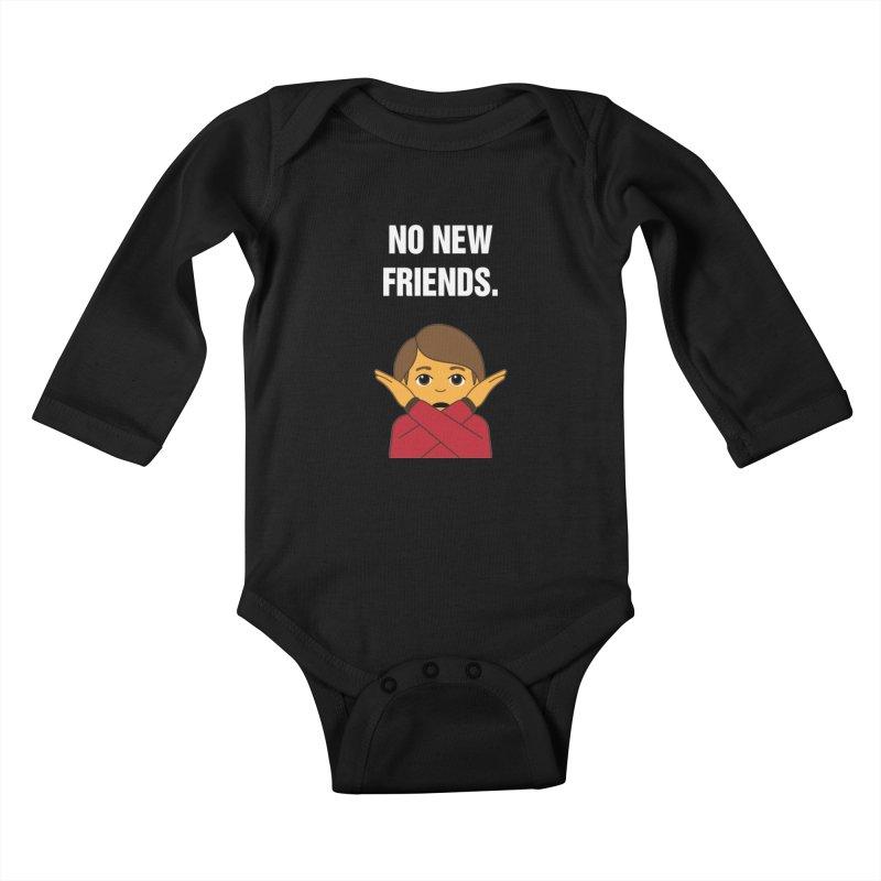 """SIDE EYE/""""No New Friends"""" (White) Kids Baby Longsleeve Bodysuit by Josh Sabarra's Shop"""