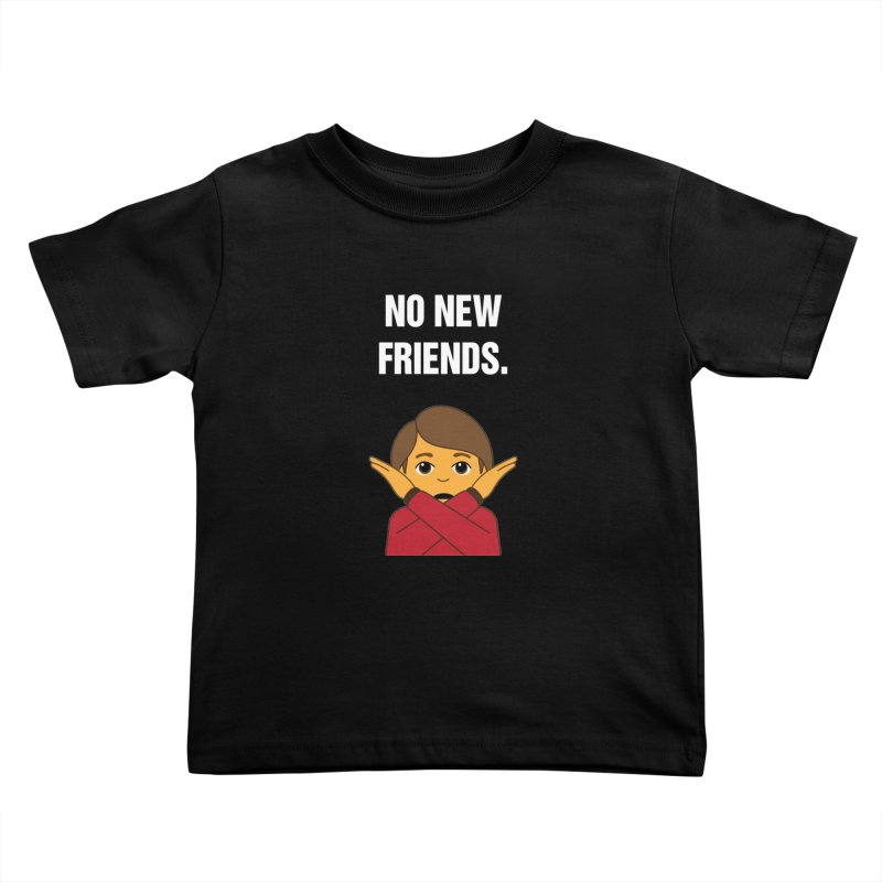 "SIDE EYE/""No New Friends"" (White) Kids Toddler T-Shirt by Josh Sabarra's Shop"