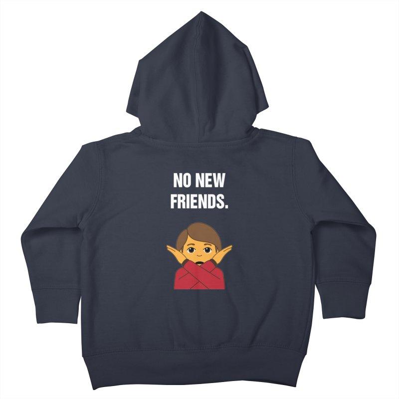 "SIDE EYE/""No New Friends"" (White) Kids Toddler Zip-Up Hoody by Josh Sabarra's Shop"