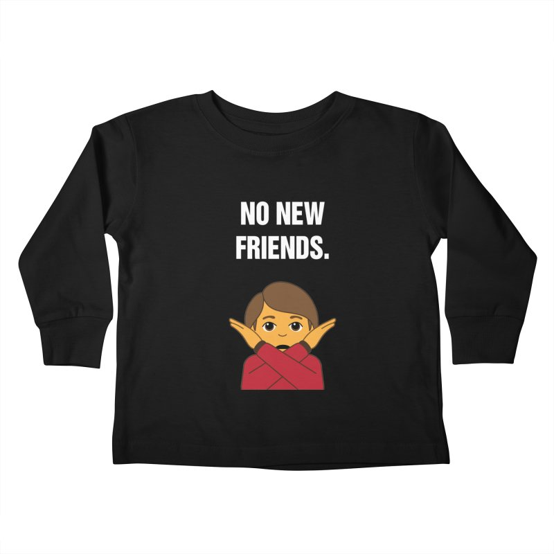 "SIDE EYE/""No New Friends"" (White) Kids Toddler Longsleeve T-Shirt by Josh Sabarra's Shop"