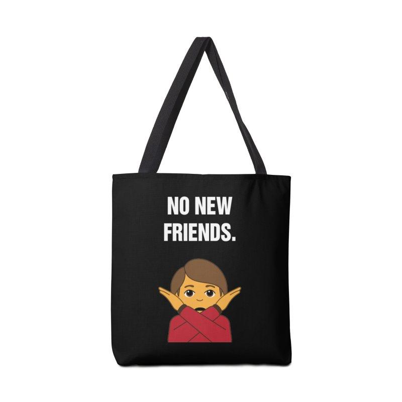 "SIDE EYE/""No New Friends"" (White) Accessories Bag by Josh Sabarra's Shop"