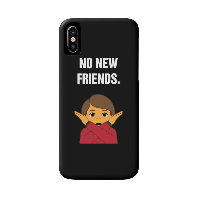 "SIDE EYE/""No New Friends"" (White) Accessories Phone Case by Josh Sabarra's Shop"