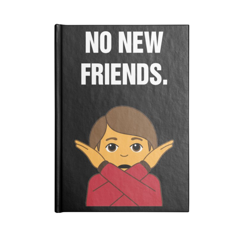 "SIDE EYE/""No New Friends"" (White) Accessories Notebook by Josh Sabarra's Shop"