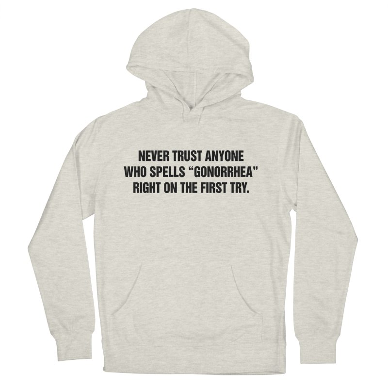 """SIDE EYE/""""Gonorrhea"""" (Black) Men's French Terry Pullover Hoody by Josh Sabarra's Shop"""