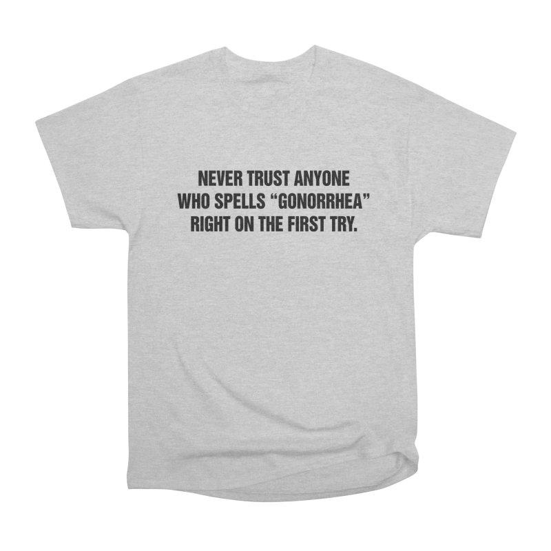 "SIDE EYE/""Gonorrhea"" (Black) Men's Heavyweight T-Shirt by Josh Sabarra's Shop"