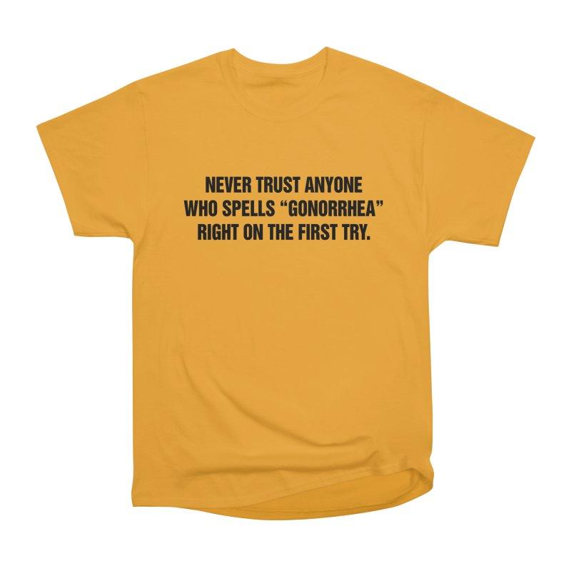 "SIDE EYE/""Gonorrhea"" (Black) Women's Heavyweight Unisex T-Shirt by Josh Sabarra's Shop"