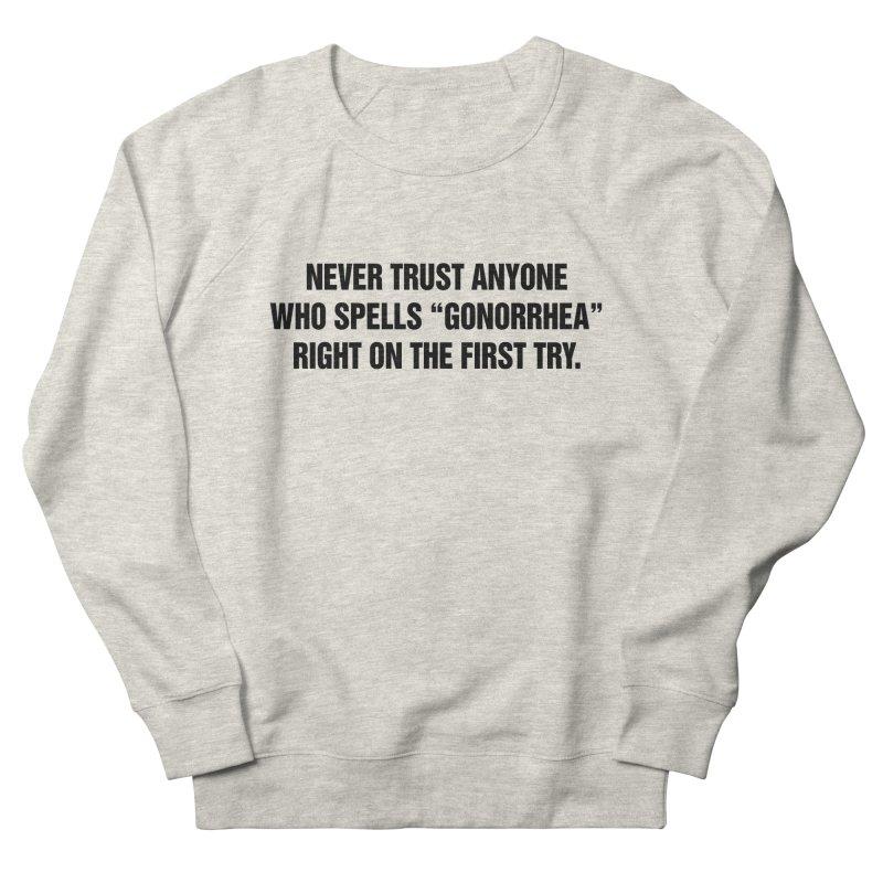 "SIDE EYE/""Gonorrhea"" (Black) Women's French Terry Sweatshirt by Josh Sabarra's Shop"