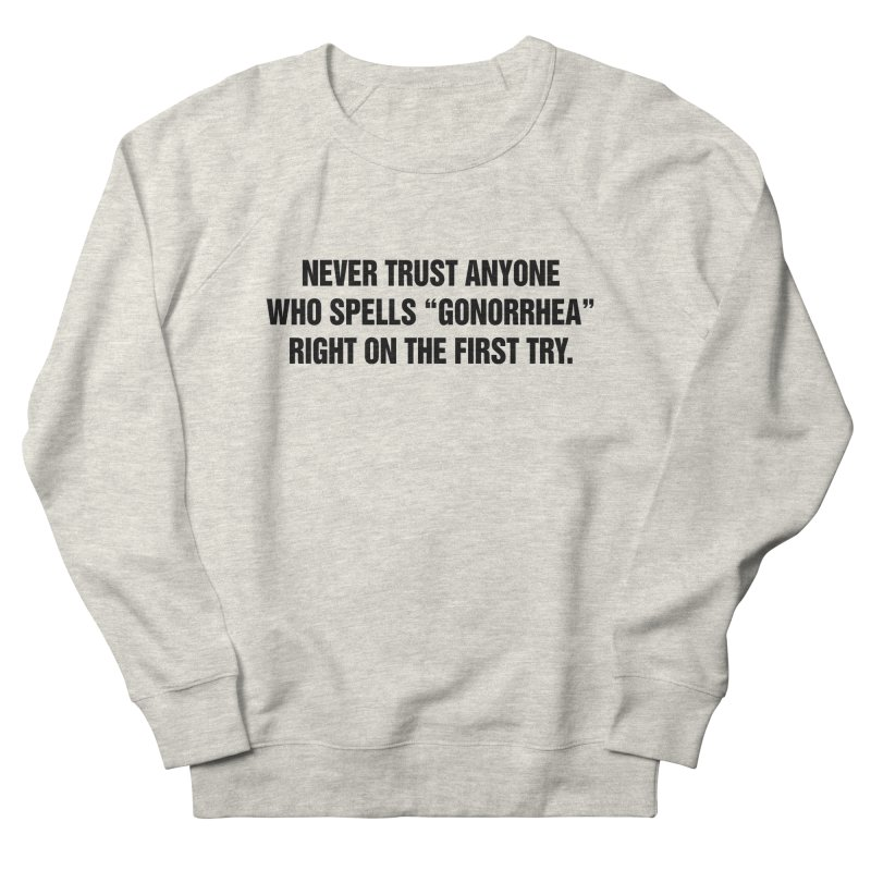 "SIDE EYE/""Gonorrhea"" (Black) Men's French Terry Sweatshirt by Josh Sabarra's Shop"