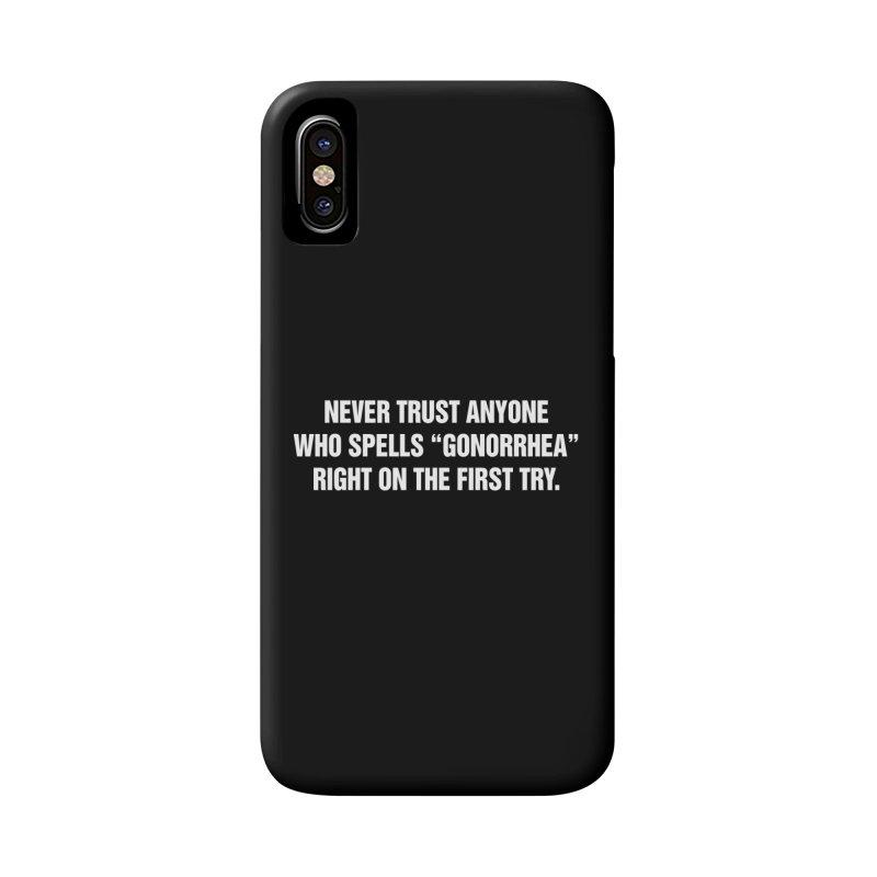 "SIDE EYE/""Gonorrhea"" (White) Accessories Phone Case by Josh Sabarra's Shop"