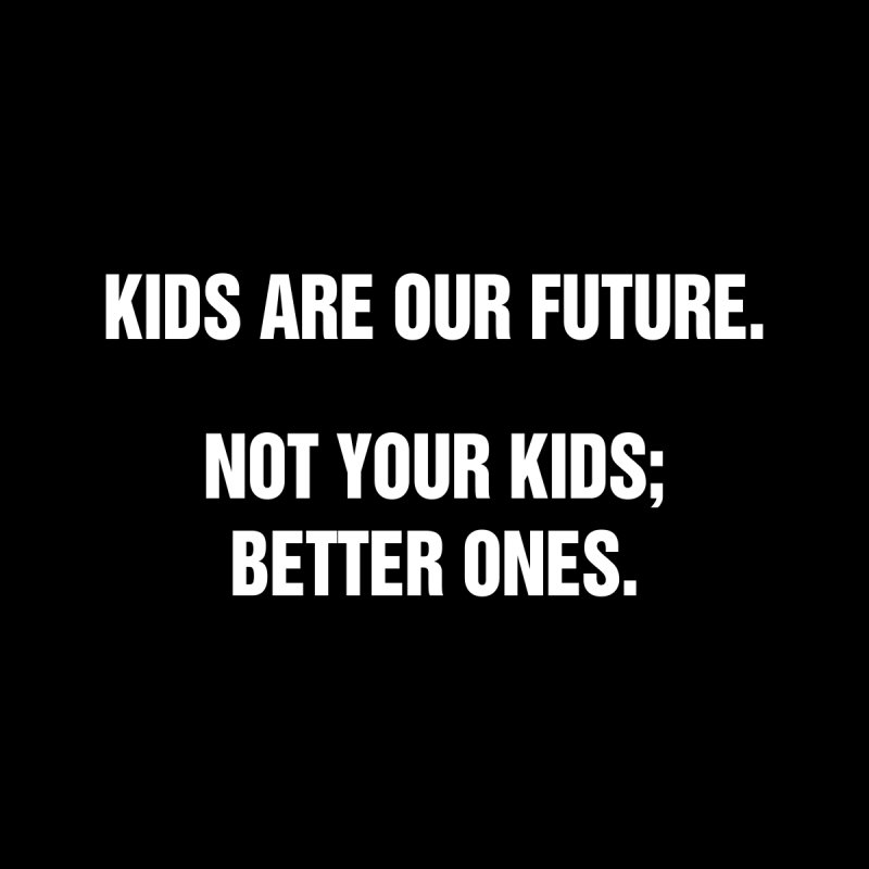 "SIDE EYE/""Kids Are Our Future"" (White) by Josh Sabarra's Shop"