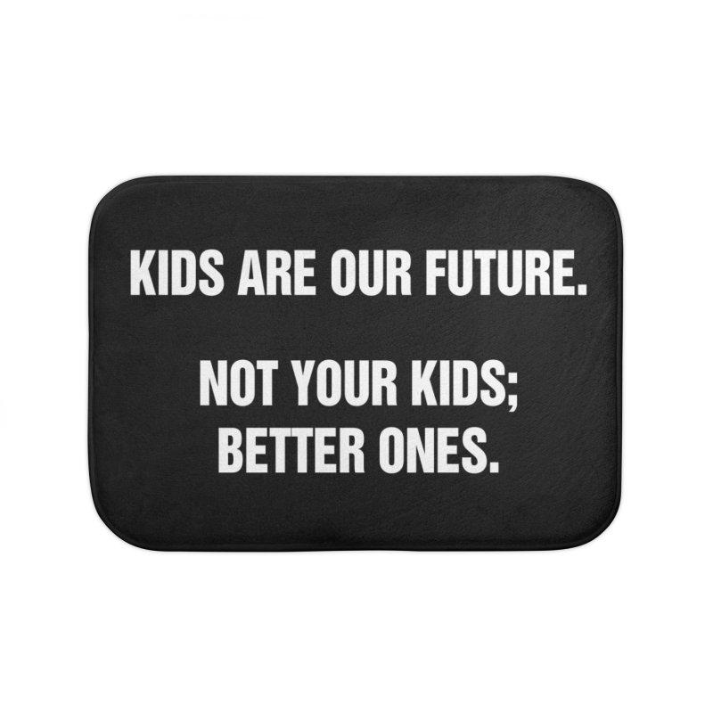 "SIDE EYE/""Kids Are Our Future"" (White) Home Bath Mat by Josh Sabarra's Shop"