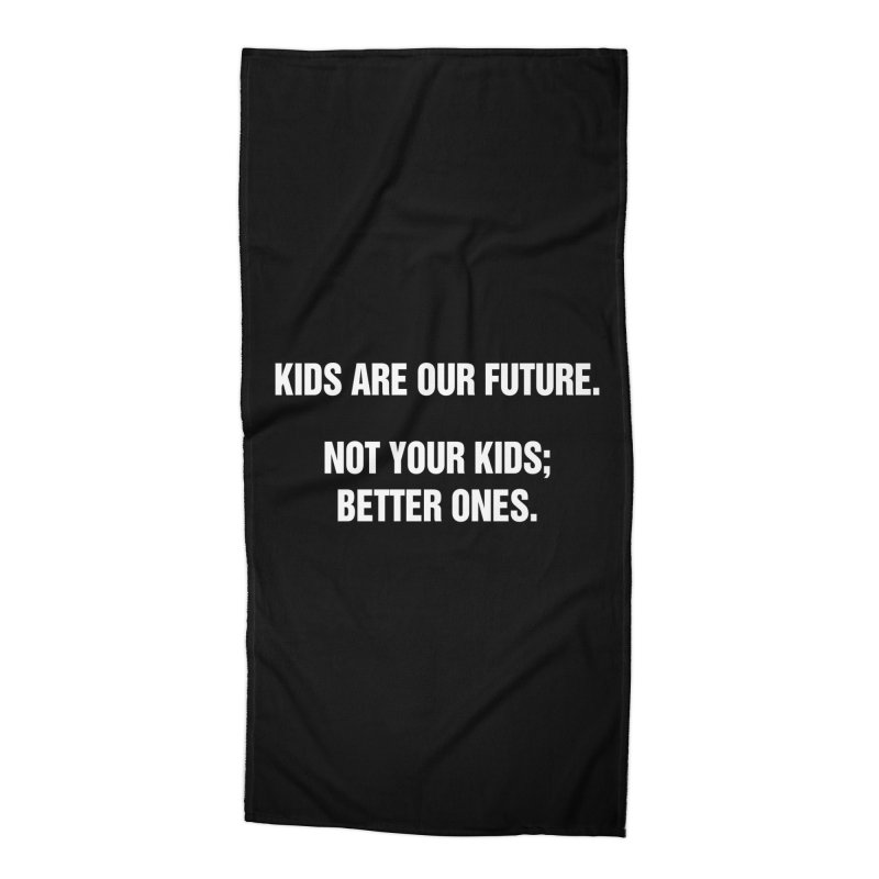 "SIDE EYE/""Kids Are Our Future"" (White) Accessories Beach Towel by Josh Sabarra's Shop"