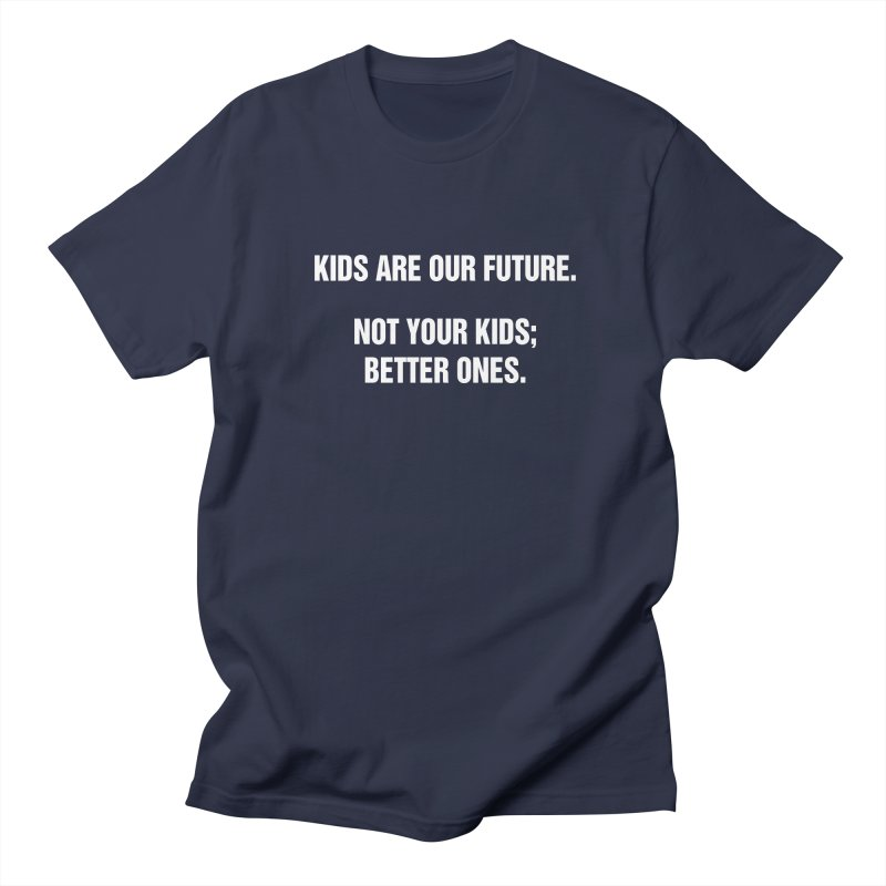 "SIDE EYE/""Kids Are Our Future"" (White) Men's Regular T-Shirt by Josh Sabarra's Shop"