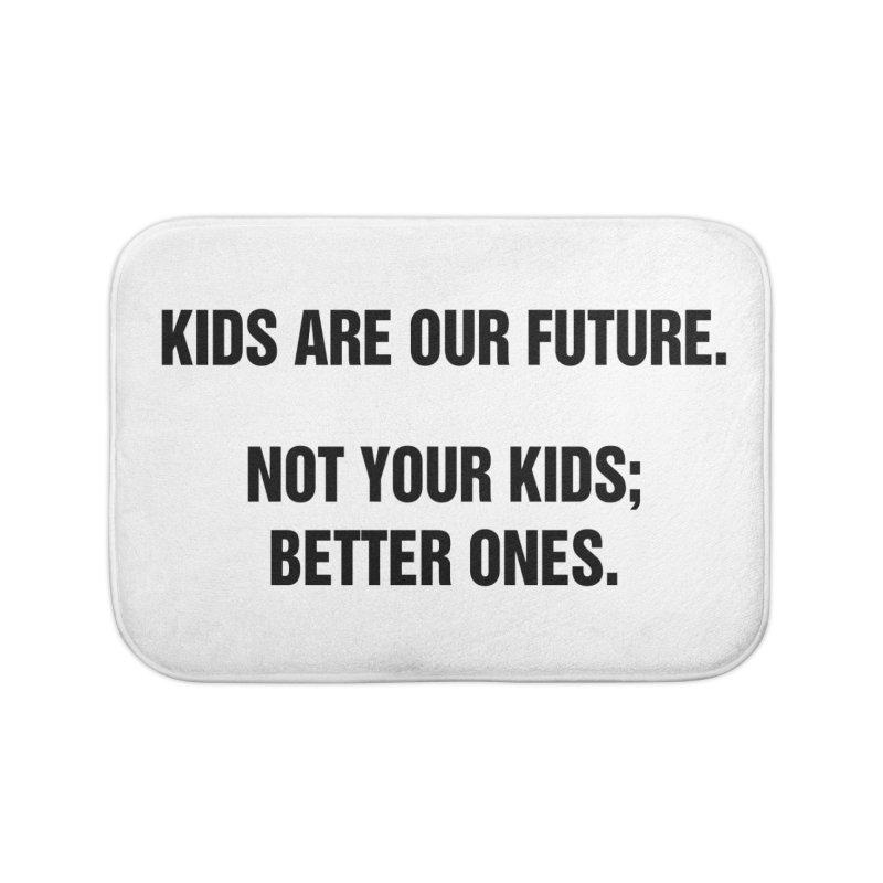 "SIDE EYE/""Kids Are Our Future"" (Black) Home Bath Mat by Josh Sabarra's Shop"