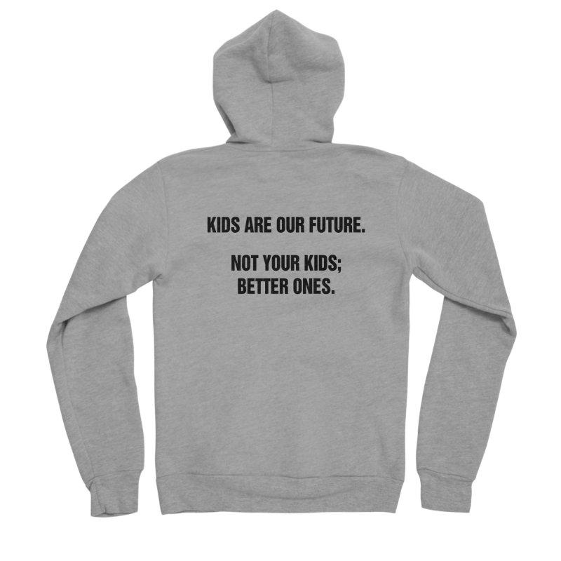 """SIDE EYE/""""Kids Are Our Future"""" (Black) Men's Sponge Fleece Zip-Up Hoody by Josh Sabarra's Shop"""