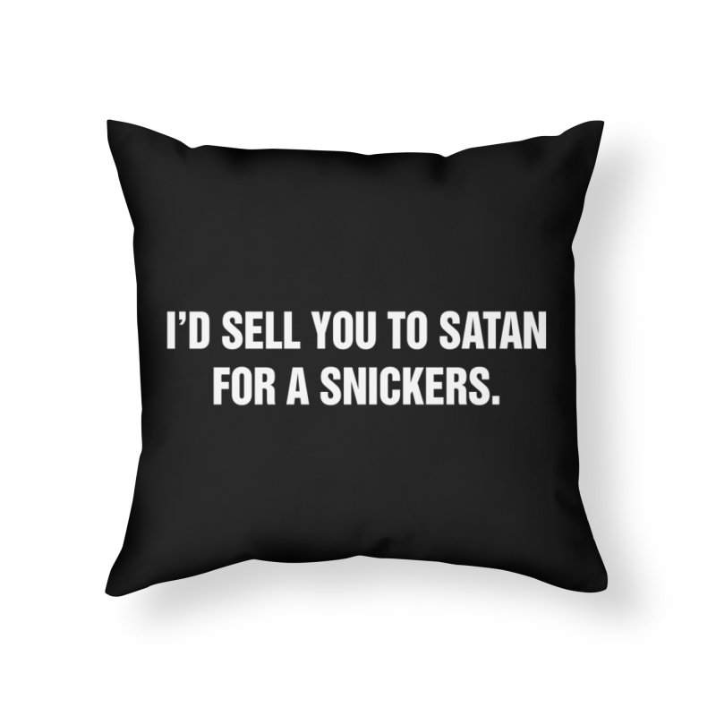 """SIDE EYE/""""Snickers"""" (White) Home Throw Pillow by Josh Sabarra's Shop"""