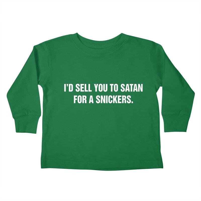 "SIDE EYE/""Snickers"" (White) Kids Toddler Longsleeve T-Shirt by Josh Sabarra's Shop"