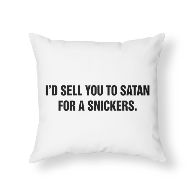 """SIDE EYE/""""Snickers"""" (Black) Home Throw Pillow by Josh Sabarra's Shop"""