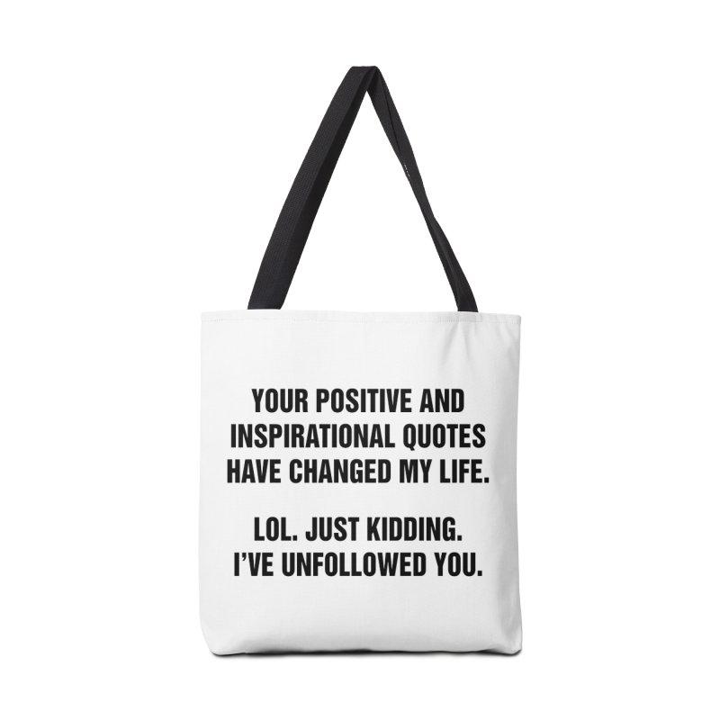 "SIDE EYE/""Inspiration"" (Black) Accessories Bag by Josh Sabarra's Shop"