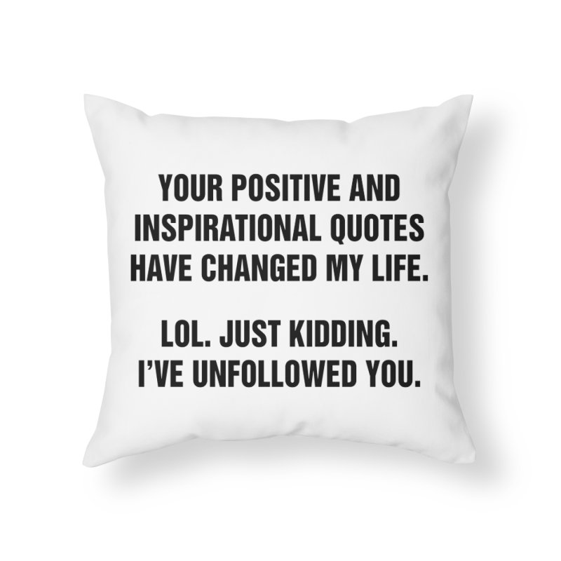 "SIDE EYE/""Inspiration"" (Black) Home Throw Pillow by Josh Sabarra's Shop"