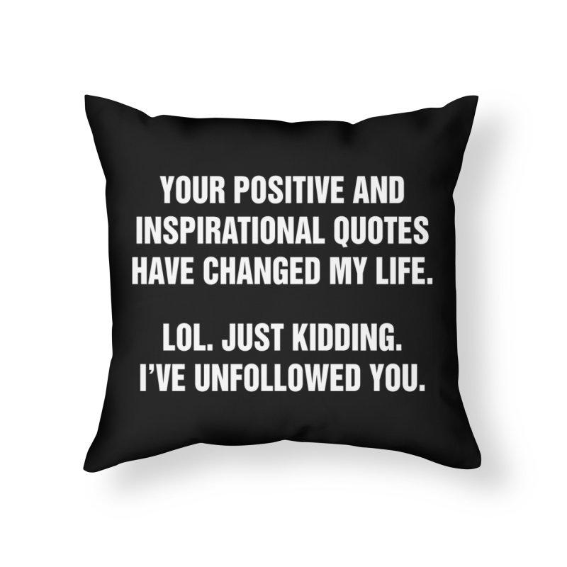 "SIDE EYE/""Inspiration"" (White) Home Throw Pillow by Josh Sabarra's Shop"