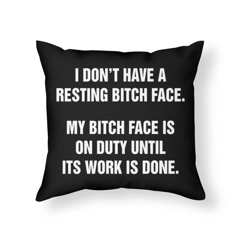 "SIDE EYE/""Bitch Face"" (White) Home Throw Pillow by Josh Sabarra's Shop"