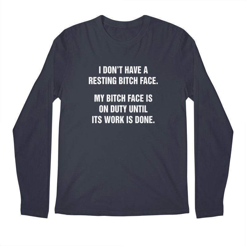 "SIDE EYE/""Bitch Face"" (White) Men's Regular Longsleeve T-Shirt by Josh Sabarra's Shop"