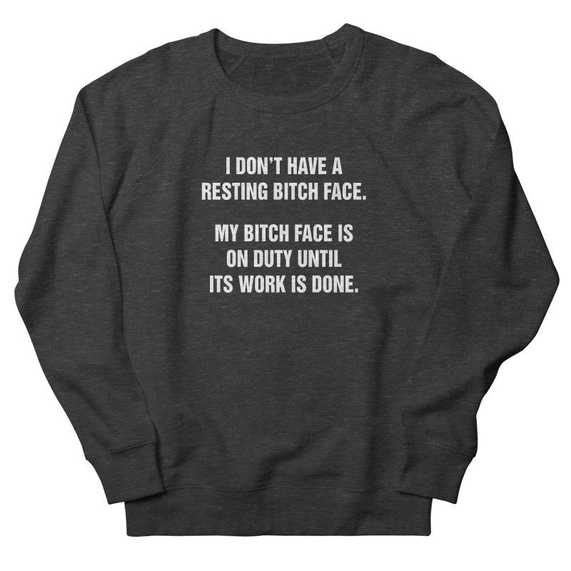 "SIDE EYE/""Bitch Face"" (White) Women's French Terry Sweatshirt by Josh Sabarra's Shop"