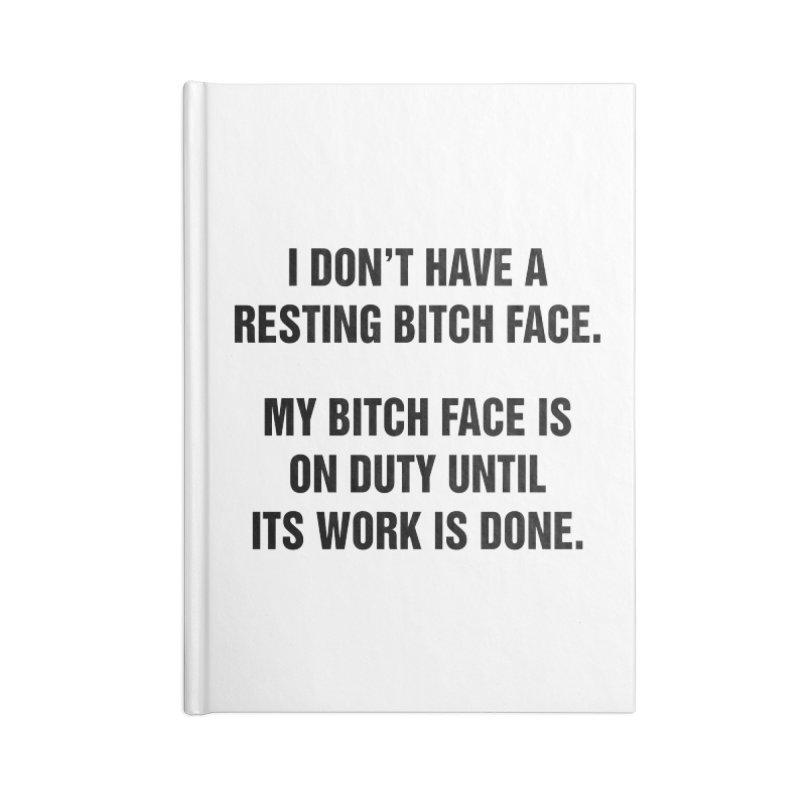 "SIDE EYE/""Bitch Face"" (Black) Accessories Notebook by Josh Sabarra's Shop"