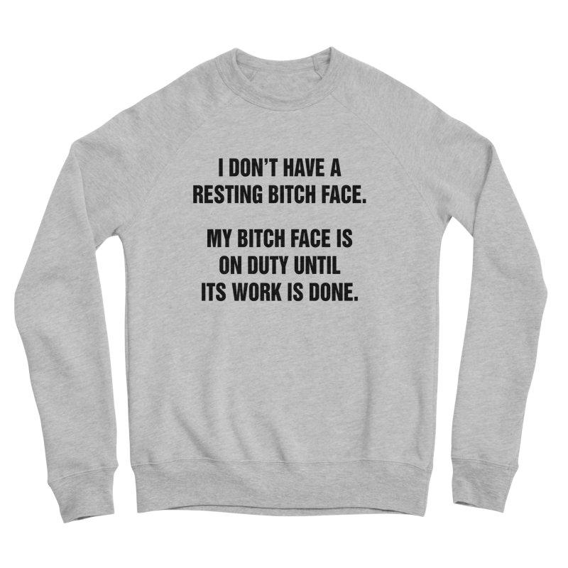 """SIDE EYE/""""Bitch Face"""" (Black) Women's Sponge Fleece Sweatshirt by Josh Sabarra's Shop"""