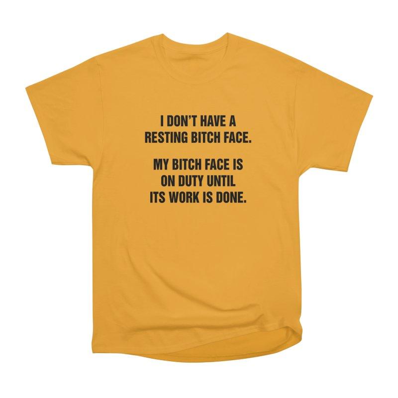 "SIDE EYE/""Bitch Face"" (Black) Women's Heavyweight Unisex T-Shirt by Josh Sabarra's Shop"