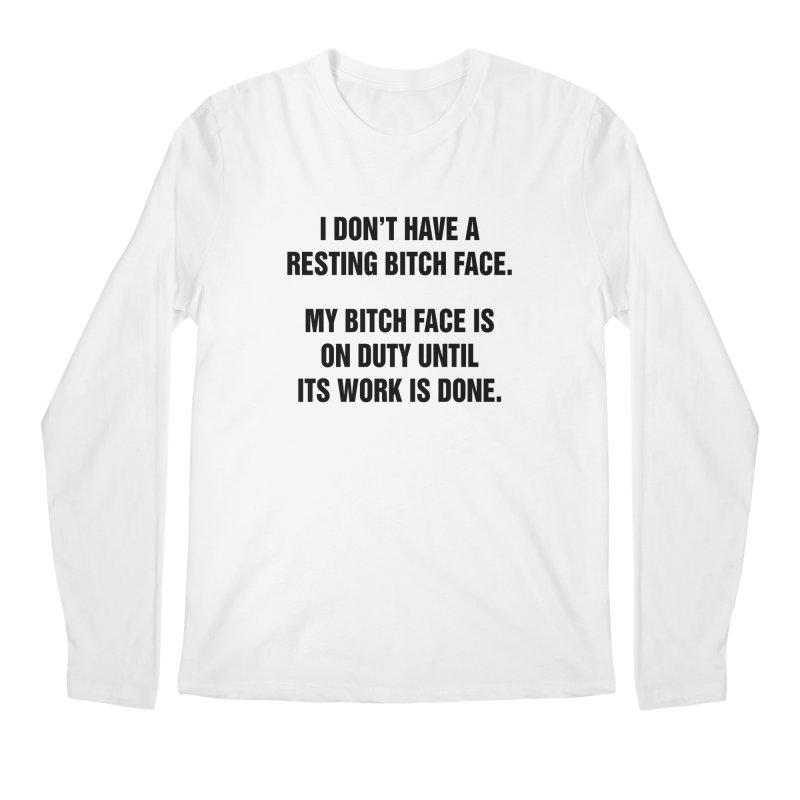 "SIDE EYE/""Bitch Face"" (Black) Men's Regular Longsleeve T-Shirt by Josh Sabarra's Shop"