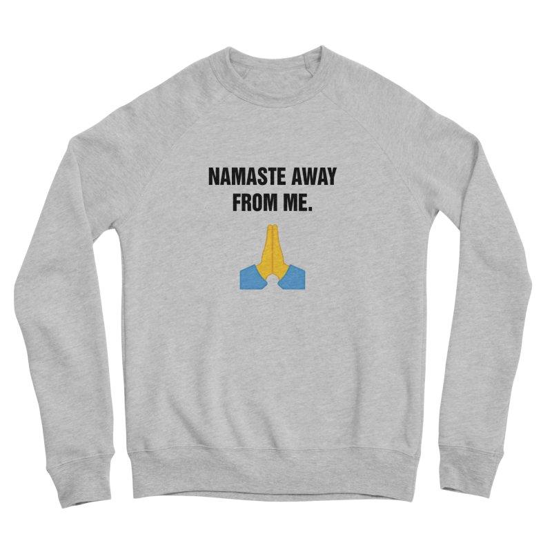 """SIDE EYE/""""Namaste"""" (Black) Women's Sponge Fleece Sweatshirt by Josh Sabarra's Shop"""