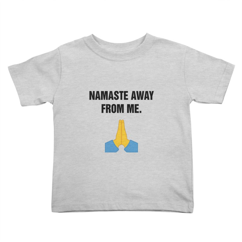 "SIDE EYE/""Namaste"" (Black) Kids Toddler T-Shirt by Josh Sabarra's Shop"