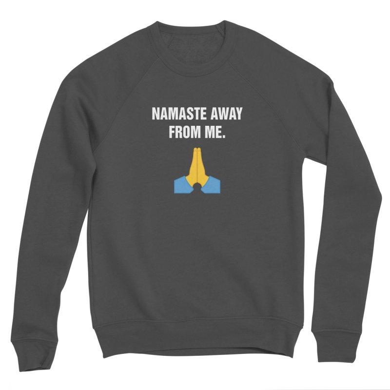 """SIDE EYE/""""Namaste"""" (White) Women's Sponge Fleece Sweatshirt by Josh Sabarra's Shop"""