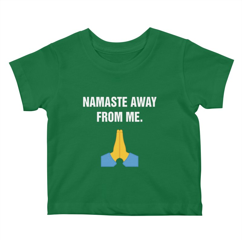 "SIDE EYE/""Namaste"" (White) Kids Baby T-Shirt by Josh Sabarra's Shop"
