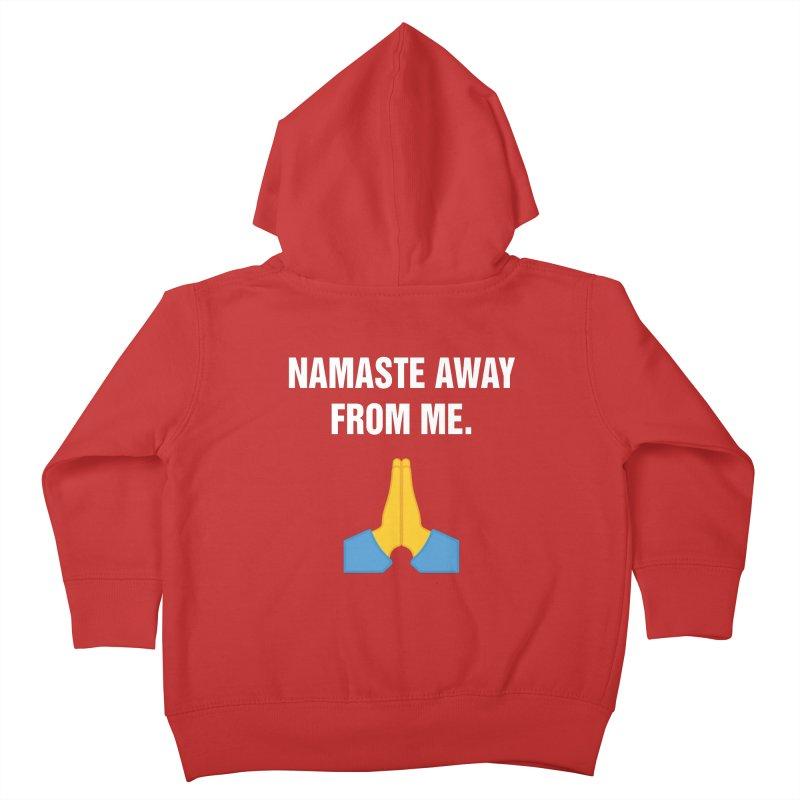 """SIDE EYE/""""Namaste"""" (White) Kids Toddler Zip-Up Hoody by Josh Sabarra's Shop"""