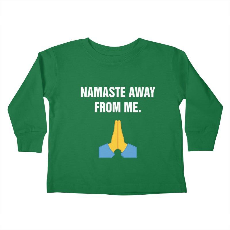 "SIDE EYE/""Namaste"" (White) Kids Toddler Longsleeve T-Shirt by Josh Sabarra's Shop"