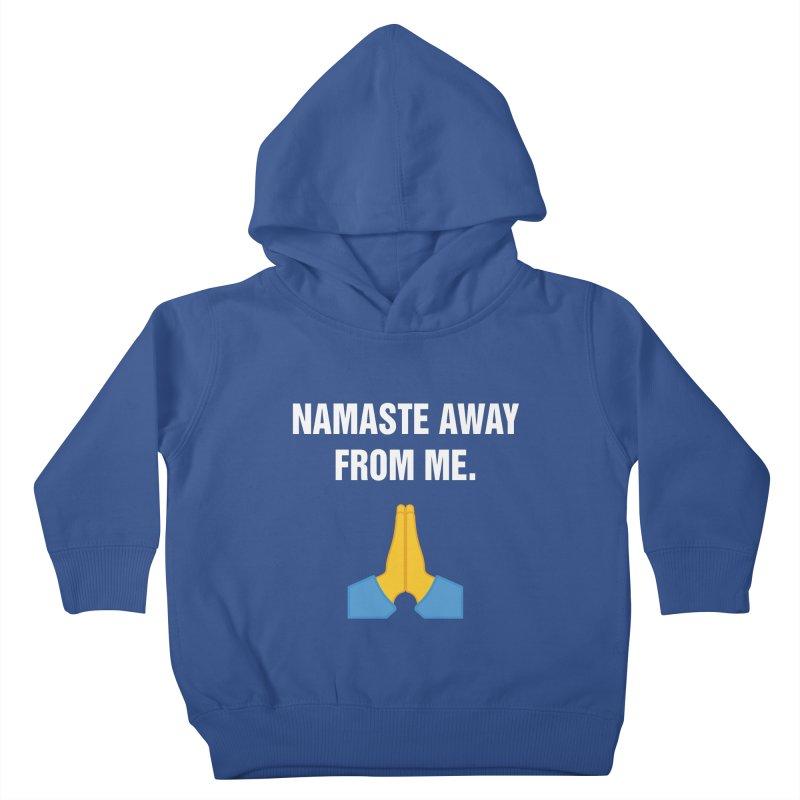 """SIDE EYE/""""Namaste"""" (White) Kids Toddler Pullover Hoody by Josh Sabarra's Shop"""