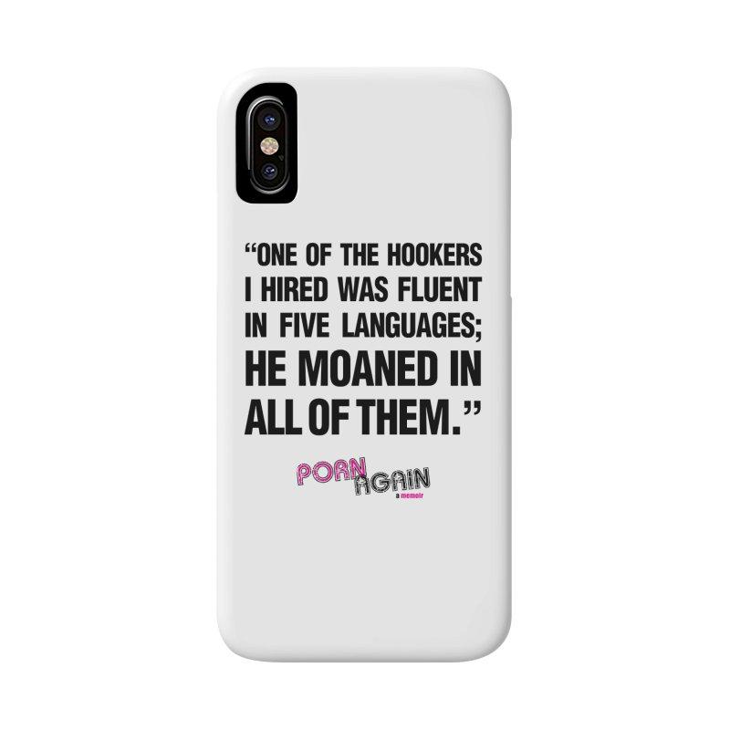 "PORN AGAIN/""Hookers"" (Black) Accessories Phone Case by Josh Sabarra's Shop"