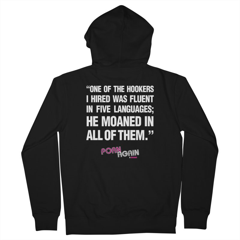 """PORN AGAIN/""""Hookers"""" (White) Women's French Terry Zip-Up Hoody by Josh Sabarra's Shop"""